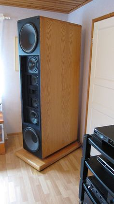 Dunlavy Audio Labs SC-VI ... stunning speakers. Oh, and I've hidden one of them behind the door  ;-)