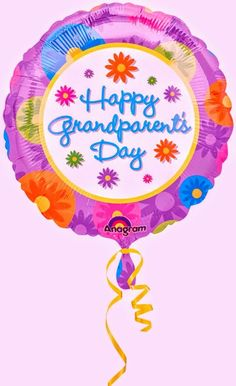 Happy Grandparent's Day Flowers 18 Balloon Mylar by Anagram -- Awesome products selected by Anna Churchill Grandparents Day Cards, National Grandparents Day, Happy Grandparents Day Image, Balloons, Sorry Cards, Greetings Images, Fathers Day Quotes, Birthday Numbers