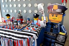 LEGO City / Police Birthday Party Ideas | Photo 1 of 35 | Catch My Party