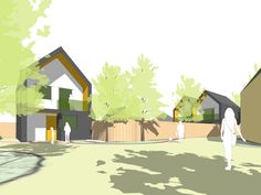Concept design for 3 new build houses in Braintree, Essex. Designed by PLANSTUDIO (hello@planstudio.uk)