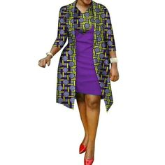 African cotton wax Print Dress and Suit Coat for Women – Afrinspiration Source by anelejakiel fashion dresses African Print Dress Designs, African Print Dresses, African Print Fashion, African Dress, African Design, Kitenge, African Attire, African Wear, African Women