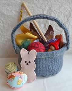 This easter consider using real grass in baskets and gifts instead complete easter basket 14 items waldorf inspired wool basket w eggsplay negle Image collections