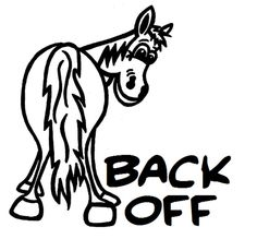 Cowgirl Stickers For Trucks  Get Off My Tail Car Vinyl Decal - Horse decals for trucks