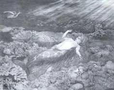 """Pearl Hunter"" ©2013 Graphite on paper"