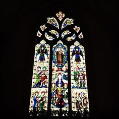 Stained glass window in St Peter Port Town Church, Guernsey