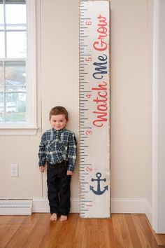 Do yourself a favor and spend the start of Fall filling your home with these mom-approved items! Growth Chart Wood, Growth Chart Ruler, Baby Growth Charts, Child Growth Chart, Diy Bebe, Charts For Kids, Kids Wood, Diy Signs, Wood Signs