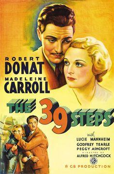The 39 Steps (The Thirty-nine Steps) 1935 Alfred Hitchcock (Novela: John Buchan)