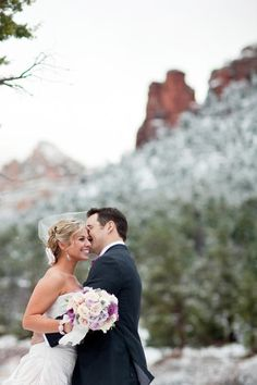 Nice!!  Snowy Sedona Wedding from Sedona Bride Photographers  Read more - http://www.stylemepretty.com/2012/05/07/snowy-sedona-wedding-from-sedona-bride-photographers/