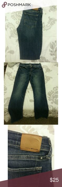 """LUCKY BRAND JEANS This is a cute pair of jeans from Lucky Brand . The style of this pair of jeans is called """" Sweet Boot"""". This item is in great condition. // Feel free to make an offer.// // NO TRADES // // Please don't advertise your closet. // Lucky Brand Jeans Boot Cut"""