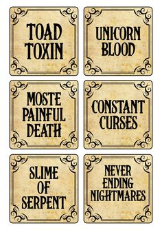 Halloween Apothecary Labels, Halloween Bottle Labels, Halloween Potions, Halloween Crafts, Halloween Ideas, Halloween Party, Halloween Decorations, Halloween Costumes, Potion Labels