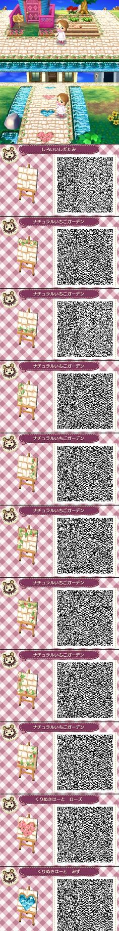 Animal Crossing New Leaf QR codes White stone (click through for source and full images) (Geek Stuff Videos)
