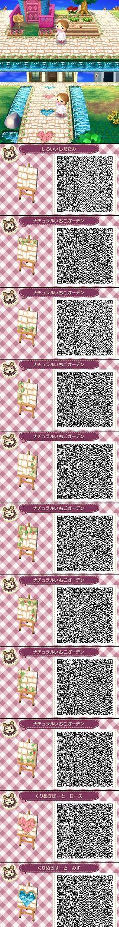 Animal Crossing New Leaf QR codes Pathway