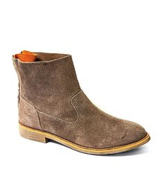 Look at this Yellow Box Shoes Taupe Chana Suede Ankle Boot on #zulily today!
