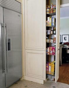 Pantry slides out of the wall!