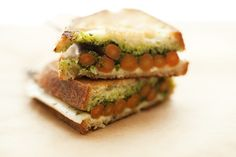 Grilled Cheese with Roasted Carrots + Carrot Greens Pesto   (can't wait for spring carrots)