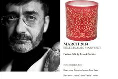 Franck Sorbier for Quintessence Paris 2014 Calendar Collection  Eastern Silk 140g candle (EYELET BALSAMIC WOODY SPICY) http://french-studio-imports.myshopify.com/ #FSI