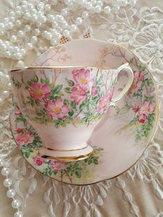 Rare Vintage Royal Albert Wildrose pattern Tea Cup Vintage