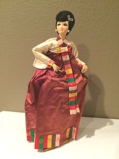 Vintage Chin's Import  Korean  Cloth Face Doll by KMSCollectibles