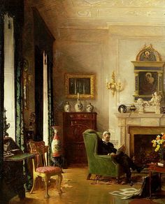 The Grey Drawing Room, by Albert Chevallier Tayler.