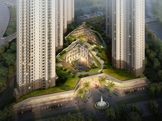 NL architects combines residential towers and shopping center in china - designboom | architecture