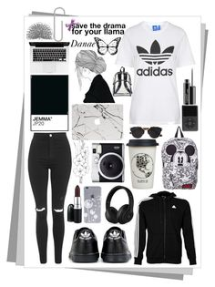 """""""Adidas"""" by danae-love-fashion ❤ liked on Polyvore featuring adidas, Topshop, Beats by Dr. Dre, MAC Cosmetics, Natural Life, Fuji, PAM, Christian Dior, Jack Black and women's clothing"""