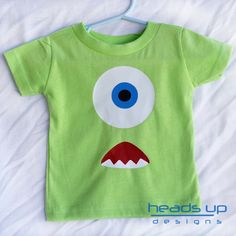 Toddler Monster Shirt  Monsters Inc Shirt por headsupdesigns, $14.95
