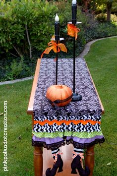 Witch Boots Table Runner