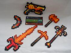 Terraria Molten/Hellstone Items keychains by CorneliusPixelCrafts