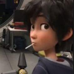 Wish I looked that swag with a lollipop Tadashi Hamada, Hiro Hamada, Big Hero 6, Cartoon Boy, Baymax, Having A Crush, Bts, Animation Film, Good Movies