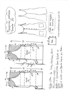 Tutorial for the end of the holiday ! - It's All Me Coutu & récup - carlotta Sewing Pants, Sewing Clothes, Diy Clothes, Dress Sewing Patterns, Blouse Patterns, Clothing Patterns, Jumpsuit Pattern, Pants Pattern, Fashion Sewing