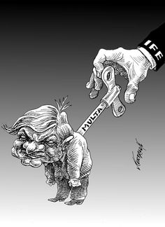 """""""Dándole cuerda"""" Cartón de Nerilicón #política #México #Humor #Cartones #IFE #AMLO"""