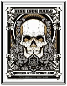Hydro 74 Nine Inch Nails & Queens of the Stone Age Sydney Poster Night 2
