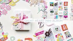 Oh My Heart Mini Album by @paigeevans @pinkpaislee #scrapbooking #pinkpaislee