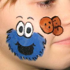 Cookie Monster Face Paint
