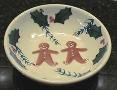 Hartstone Gingerbread Cereal Soup Bowl New