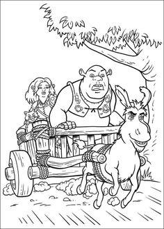 Shrek Tegninger til Farvelægning. Printbare Farvelægning for børn. Tegninger til udskriv og farve nº 125