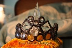Crown made by Terri Brush   learn to make these in my online workshops   www.terribrushdesigns.com  Solder,silver,crown,online class,