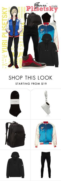 """""""   Yuri Plisetsky (male v.) ~ Yuri!!! On Ice   """" by freezespell ❤ liked on Polyvore featuring Calvin Klein, Gioelli, Kenneth Cole Reaction, C.P. Company, Vivienne Westwood Anglomania, Salvatore Ferragamo, men's fashion and menswear"""