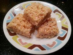 Barras de cereal de arroz y marshmallow