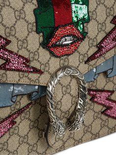 Dionysus GG Supreme appliqué shoulder bag | Gucci | MATCHESFASHION.COM