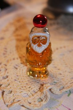 Vintage Avon bottle Santa clear red top by hudathotjewelry on Etsy, $8.00
