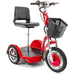 CHALLENGER X Recreational Electric Mobility Scooter Ride Seated or Standing with Deluxe Folding Seat J750DLX