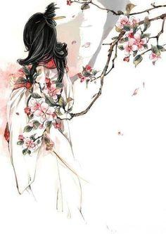Kai Fine Art is an art website, shows painting and illustration works all over the world. Chinese Drawings, Chinese Artwork, Illustrations, Illustration Art, Geisha Art, Art Asiatique, Korean Art, Human Art, Anime Art Girl