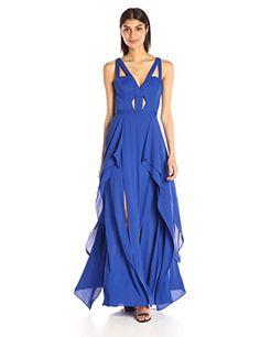 BCBGMax Azria Women's Juliana Evening Gown, Bright Larksp...