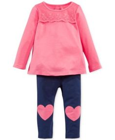 First Impressions Baby Girls' Lace-Inset Top