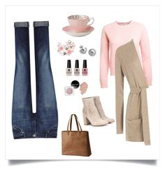 Cozy in Pink! by cyndi-y on Polyvore featuring polyvore, fashion, style, Closed, DL1961 Premium Denim, Gianvito Rossi, SOREL, NOVICA, Lord & Taylor, Royal Albert, Victoria's Secret and clothing