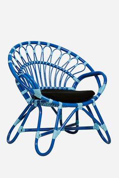 Ibiza Party Chair, Dark Blue & Light Blue