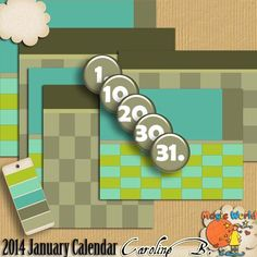 #Caroline B. - 2014 January Calendar All you need to make your Calendar for January 2014. http://www.carolineb-design.com/index.php?main_page=product_info&products_id=282