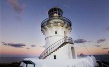 Nestled underneath the historic Sugarloaf Point Lighthouse, the three lighthouse keepers' cottages offer restored, beautifully appointed, old world ch Birds Eye View, Magazine Design, Seals, Frogeye Salad, Lighthouse, Sydney, Surfing, National Parks, Rocks