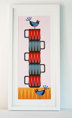 'Mug Stack' print £30.00 Suzanne Carpenter